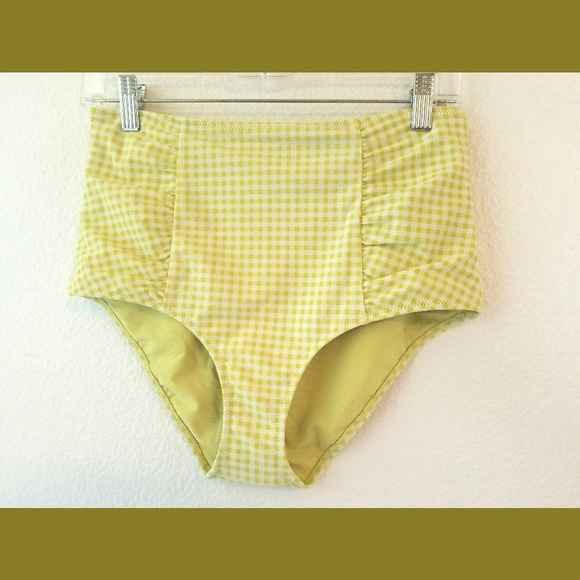 aerie Other - Aerie Green & White High Rise Pinup BS Bottom Lg